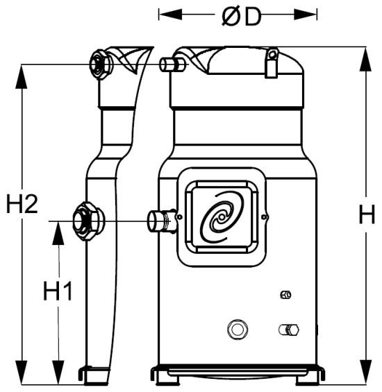sh2 - Компрессор Danfoss SH300