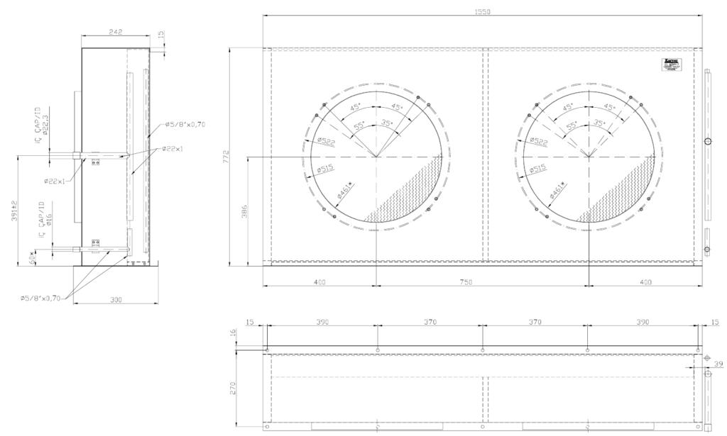 ELK32 1024x615 - Теплообменник без вентиляторов Karyer ELK 32