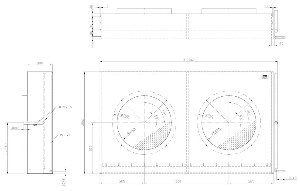 ELK90 1024x652 - Теплообменник без вентиляторов Karyer ELK 90